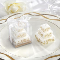 Gold Cake Candle Wedding Favor
