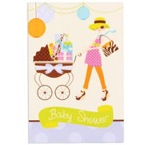 Modern Mommy Baby Shower Invitations 8ct