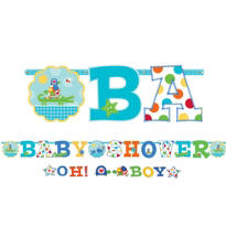Ahoy Baby Boy Shower Letter Banner Combo Pack 2pc