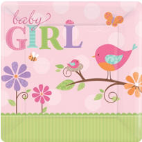 Tweet Baby Girl Dinner Plates 8ct