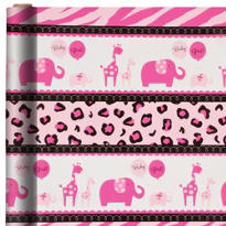 Pink Safari Gift Wrap 5ft