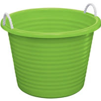 Kiwi Green Plastic Tub with Rope Handles 17gal
