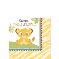 Lion King Baby Shower Beverage Napkins 16ct