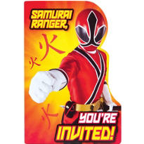 Samurai Power Rangers Invitations