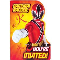 Samurai Power Rangers Invitations