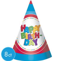 Boy Birthday Party Hats 8ct