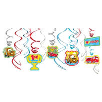 Cars 1st Birthday Swirl Decorations 12ct