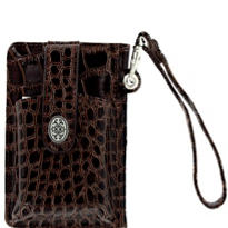 Brown Cell Phone Wallet Wristlet