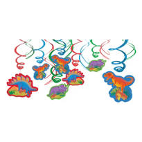 Prehistoric Dinosaurs Swirl Decorations 12ct