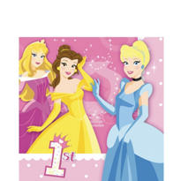 1st Birthday Disney Princess Lunch Napkins 16ct