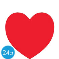 Red Heart Cutouts 8in 24ct