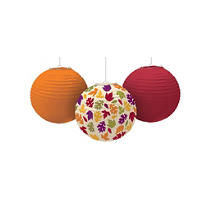 Fall Paper Lanterns 9 1/2in 3ct