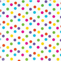 Multicolor Dot Printed Tissue Paper 8ct