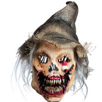 Latex Evil Scarecrow Mask