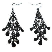 Black-On-Black Earrings