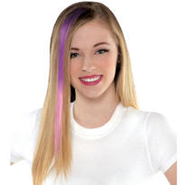 Purple and Fuchsia Hair Extension
