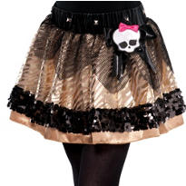 Girls Gold Monster High Tutu