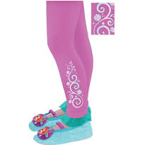 Child Footless Ariel Tights - The Little Mermaid