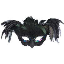 Raven Fantasy Feather Mask