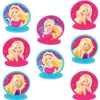Barbie Cake Toppers 8ct