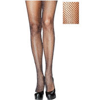Adult Black Glitter Fishnet Pantyhose