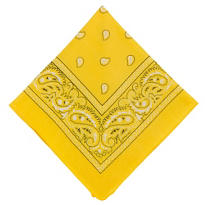 Yellow Bandana 20in