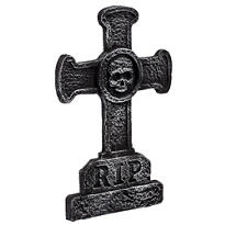 Classic Cross Tombstone Decoration 22in