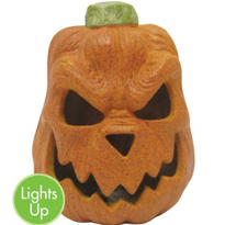 Scary Light-Up Pumpkin 7in
