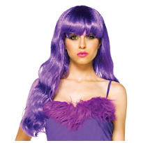 Punk Rapunzel Purple Wig