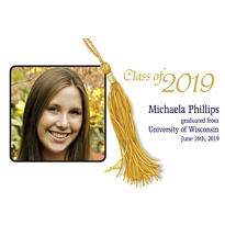 Grad Tassle Custom Photo Announcement