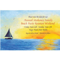 Silhouette Sailboat Custom Invitation