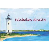 Classic Lighthouse Custom Thank You Note