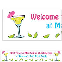 Summertime Margarita Custom Banner 6ft