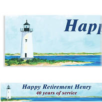 Classic Lighthouse Custom Banner 6ft