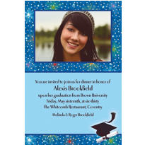 Dazzling Grad Custom Photo Invitation