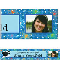Dazzling Grad Custom Photo Banner 6ft