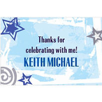 Blue Class Year with Stars Custom Thank You Notes