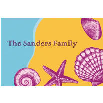 Seashells on the Seashore Custom Thank You Note
