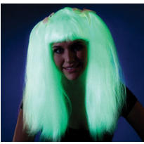 Ravewear Glow In The Dark Pigtail Wig