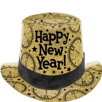 Gold Prismatic Top Hat