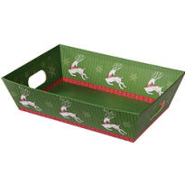 Medium Reindeer Gift Tray 10in
