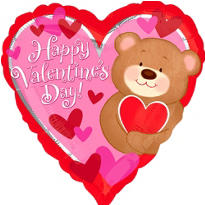 Foil Bear Hugs Valentines Day Balloon