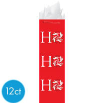 Ho Ho Ho Bottle Bags 17in 12ct