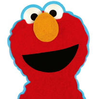 Furry Elmo Invitations 8ct
