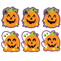 Halloween Pumpkin Cutouts 11in 12pc