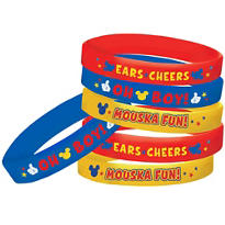 Mickey Mouse Wrist Bands 4ct