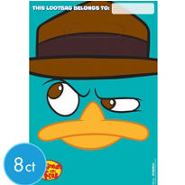Phineas and Ferb Favor Bags 8ct