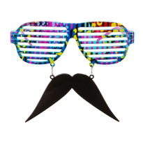 The Blue Splatter Slotted Sun-Staches