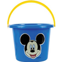 Plastic Mickey Mouse Bucket 8in