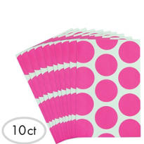 Bright Pink Dot Paper Favor Bags 10ct